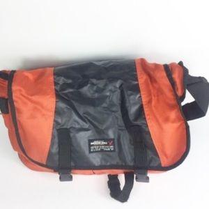 American Eagle Orange Black Duffle Travel Bag